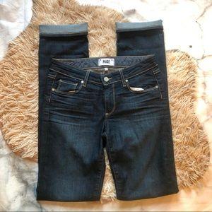 Paige Skyline Dark Wash Straight Jeans (27)
